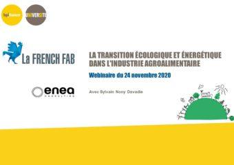 Webinaire: «La transition écologique et énergétique dans l'industrie agroalimentaire»